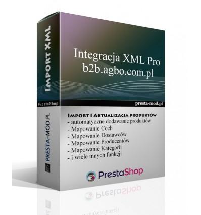 Import formátu XML produkty b2b.agbo.com.pl