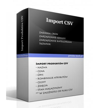 Import produktów CSV