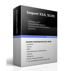 Import products XLS, XLSX