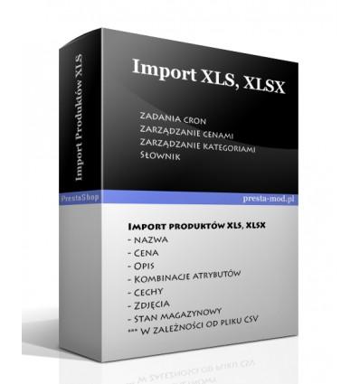 Import produktów XLS, XLSX