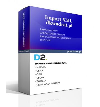 Import produktów www.dkwadrat.pl