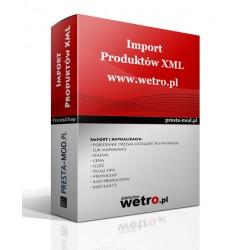 Import produktów XML wetro.pl - PrestaShop
