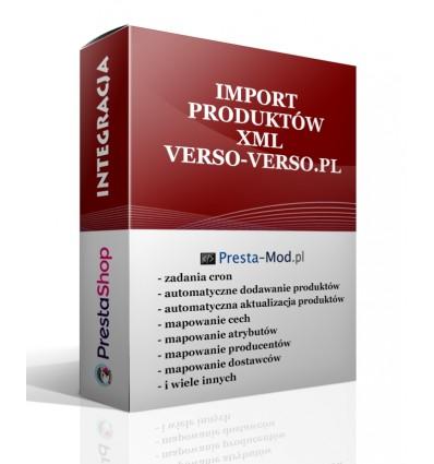 Import produktów XML - verso