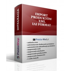 Import products XML - IAI SHOP FORMAT