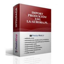 Import XML produkty la-aurora.pl-PrestaShop