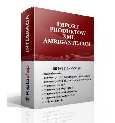 Import produktów XML - ambigante.com - PrestaShop