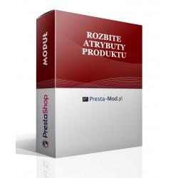 Členění podle produktů atributy PrestaShop modul